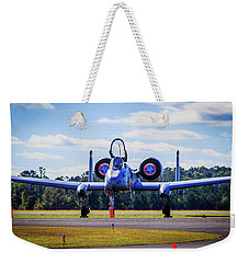 Weekender Tote Bag featuring the photograph A-10c Thunderbolt II by Doug Camara