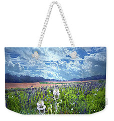 Weekender Tote Bag featuring the photograph A Chance Of Rain by Phil Koch