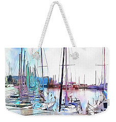 Weekender Tote Bag featuring the photograph A Color Wash Of Boats by Dorothy Berry-Lound