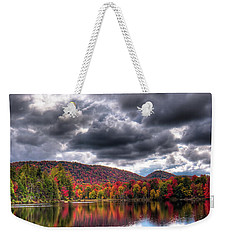 Weekender Tote Bag featuring the photograph A Fall Day On West Lake by David Patterson