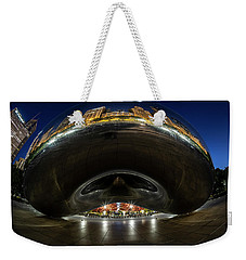 A Fisheye Perspective Of Chicago's Bean Weekender Tote Bag