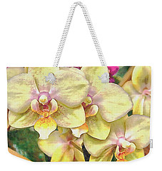 A Flash Of Orchids Weekender Tote Bag