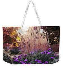A Flower Bed In The Autumn Park Weekender Tote Bag
