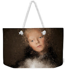A Girl With The Hand Fan Weekender Tote Bag