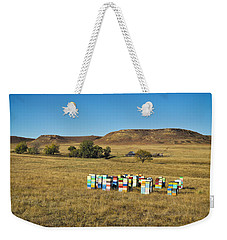Weekender Tote Bag featuring the photograph A Great Place To Bee by Carl Young