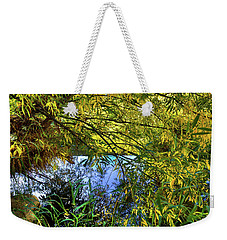 Weekender Tote Bag featuring the photograph A Peek At The River by David Patterson
