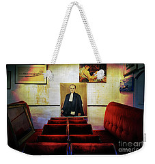 Weekender Tote Bag featuring the photograph A Portrait Of A Pious Man Lost In Puce De Saint Ouen by Craig J Satterlee