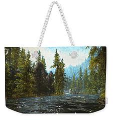 A River Flows Thru It Weekender Tote Bag