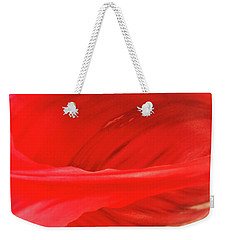 A Single Tulip Petal Weekender Tote Bag