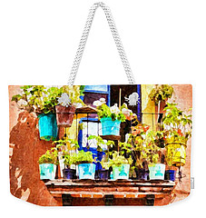 Weekender Tote Bag featuring the photograph A Small Suspended Garden In Mexico - Digital Paint by Tatiana Travelways