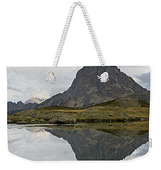 Weekender Tote Bag featuring the photograph A Still Evening At Lac Du Miey by Stephen Taylor