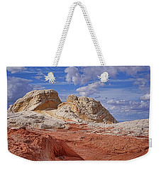 Weekender Tote Bag featuring the photograph A Strange View by Theo O'Connor