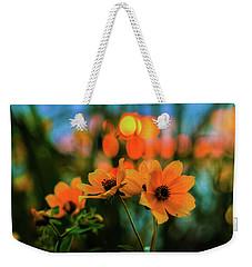 Sunflower Bokeh Sunset Weekender Tote Bag