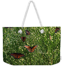 Weekender Tote Bag featuring the photograph A Swarm Of Queens by Gaelyn Olmsted