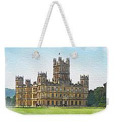 Weekender Tote Bag featuring the digital art A View Of Highclere Castle 1 by Joe Winkler