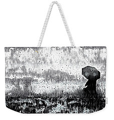 Weekender Tote Bag featuring the mixed media A Walk In The Rain by Susan Maxwell Schmidt