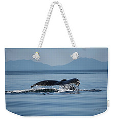 Weekender Tote Bag featuring the photograph A Whale Of A Tail - Wildlife Art by Jordan Blackstone
