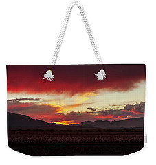 Weekender Tote Bag featuring the photograph Ablaze by Rick Furmanek