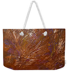 Abstract Brown Feathers Weekender Tote Bag