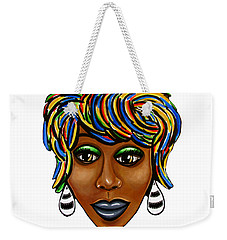 Abstract Art Black Woman Retro Pop Art Painting- Ai P. Nilson Weekender Tote Bag