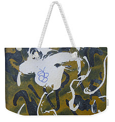 Weekender Tote Bag featuring the drawing Abstract Human Figure by AJ Brown
