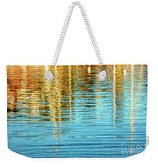 Abstract Reflections In Camden Harbor Maine Weekender Tote Bag