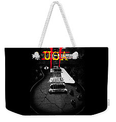 Abstract Relic Guitar Usa Flag Weekender Tote Bag
