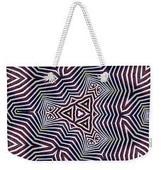 Abstract Zebra Design Weekender Tote Bag