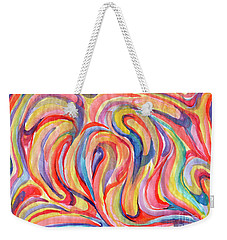 Abstraction In Autumn Colors Weekender Tote Bag
