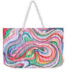Abstraction In Spring Colors Weekender Tote Bag