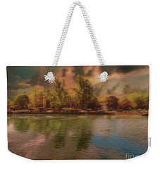 Weekender Tote Bag featuring the photograph Across The Water by Leigh Kemp