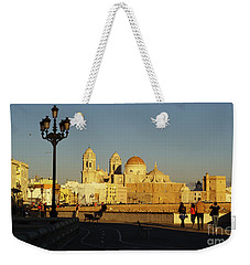 Weekender Tote Bag featuring the photograph adiz Cathedral from Southern Field Spain by Pablo Avanzini