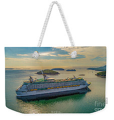 Weekender Tote Bag featuring the photograph Adventure Of The Seas, Bar Harbor  by Michael Hughes