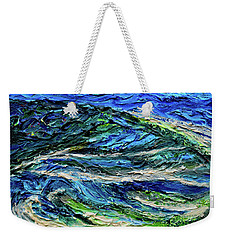 Aerial View Of Presque Isle Lake Erie Weekender Tote Bag