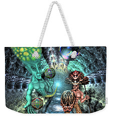 Weekender Tote Bag featuring the digital art Aethereal Encounter by Vincent Autenrieb