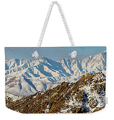 Weekender Tote Bag featuring the photograph Afghanistan Hindu Kush Snowy Peaks by SR Green
