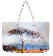 Weekender Tote Bag featuring the painting African Journey by Chris Armytage