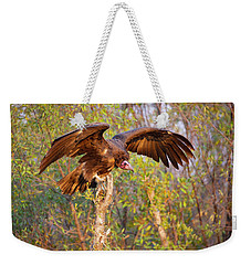 Weekender Tote Bag featuring the photograph African Vulture by John Rodrigues