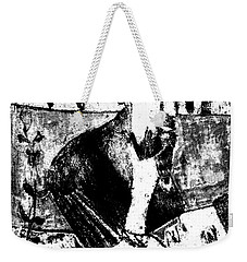 After Childish Edgeworth Black And White Print 26 Weekender Tote Bag