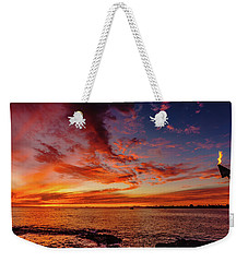After Sunset Colors At Kailua Bay Weekender Tote Bag