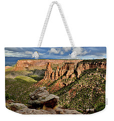 After The Storm Light On Colorado National Monument Weekender Tote Bag
