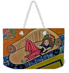 Aj On The Couch Weekender Tote Bag