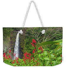Weekender Tote Bag featuring the photograph Akaka In Red by Denise Bird