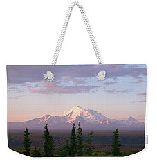 Weekender Tote Bag featuring the photograph Alaska Mountain Sunset by Mark Duehmig