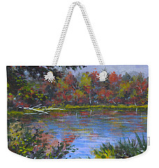 Algonquin Lake Sketch Weekender Tote Bag