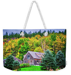 Weekender Tote Bag featuring the photograph All Snuggled In by Lynn Bauer