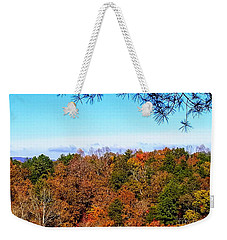 Weekender Tote Bag featuring the photograph All The Colors Of Fall by Rachel Hannah