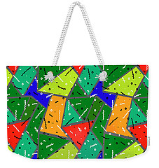 Weekender Tote Bag featuring the digital art All The Right Moves by Edmund Nagele