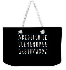 Alphabet Elemeno Weekender Tote Bag