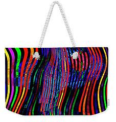 Weekender Tote Bag featuring the digital art Always Between The Lines by Edmund Nagele